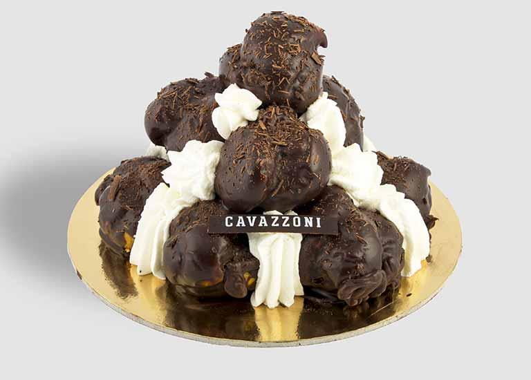Torta Profiterole - Pasticceria Cavazzoni Fano