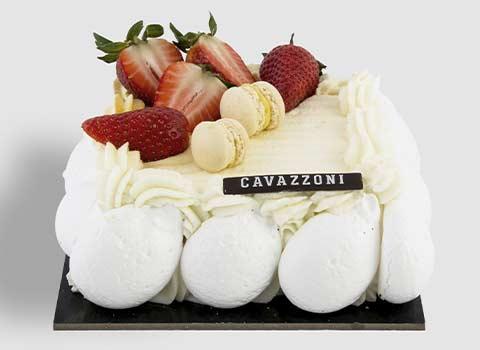 Torta Mousse Mascarpone e Fragola - Pasticceria Cavazzoni Fano